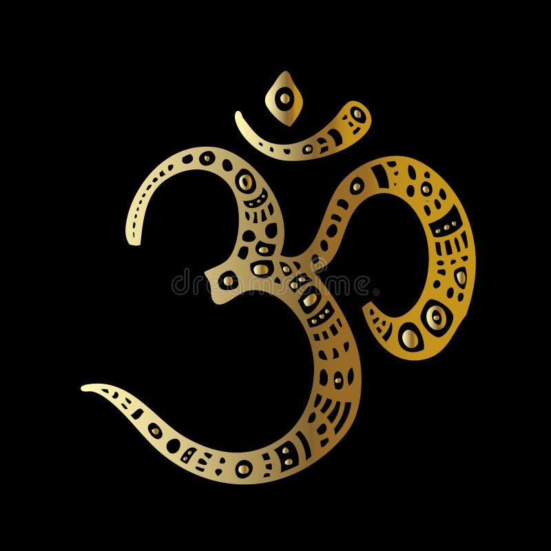 Simbolo del OM Aum, ohm royalty illustrazione gratis