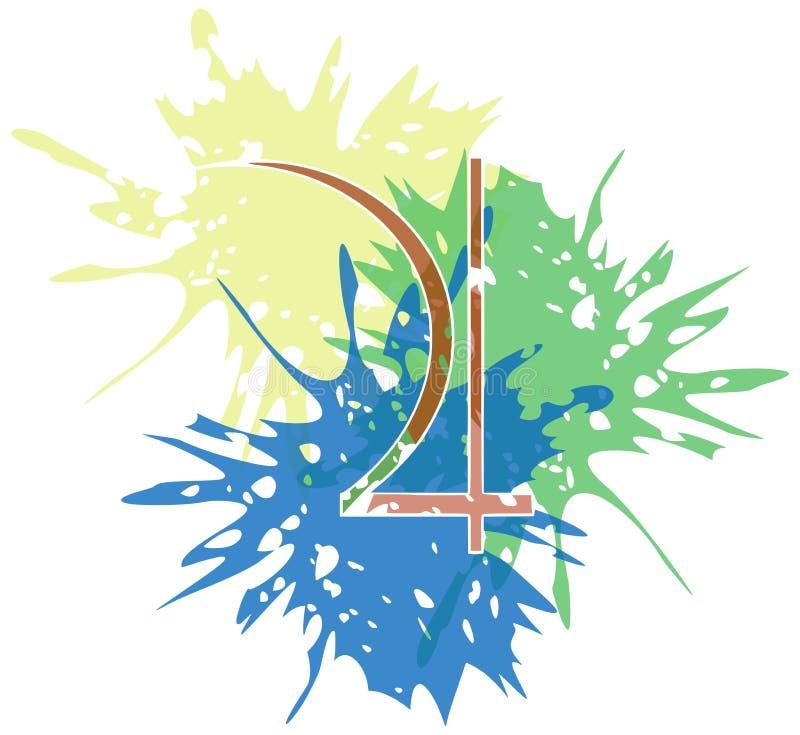 Simbolo del pianeta Giove creato con i punti isolati royalty illustrazione gratis