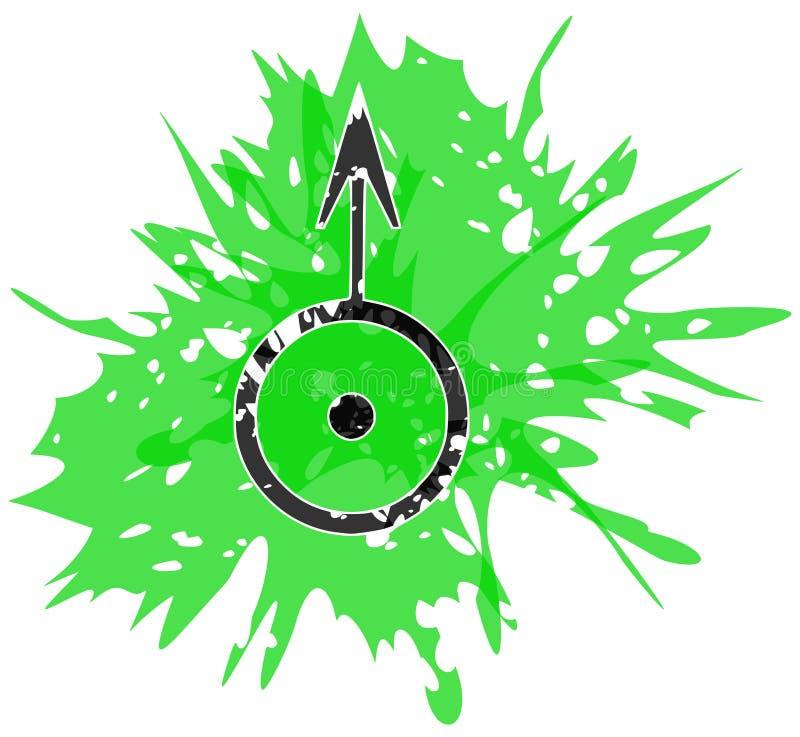 Simbolo del pianeta Urano creato con i punti isolati royalty illustrazione gratis
