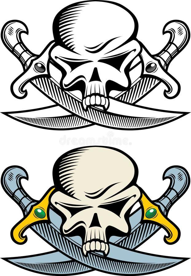 Simbolo del pirata illustrazione di stock