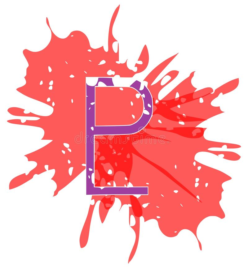 Simbolo del Plutone del pianeta creato con i punti isolati illustrazione di stock