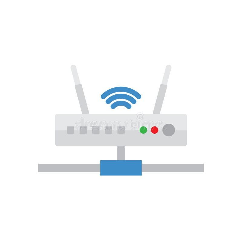 Simbolo del segnale e del router Router di Wi-Fi illustrazione vettoriale