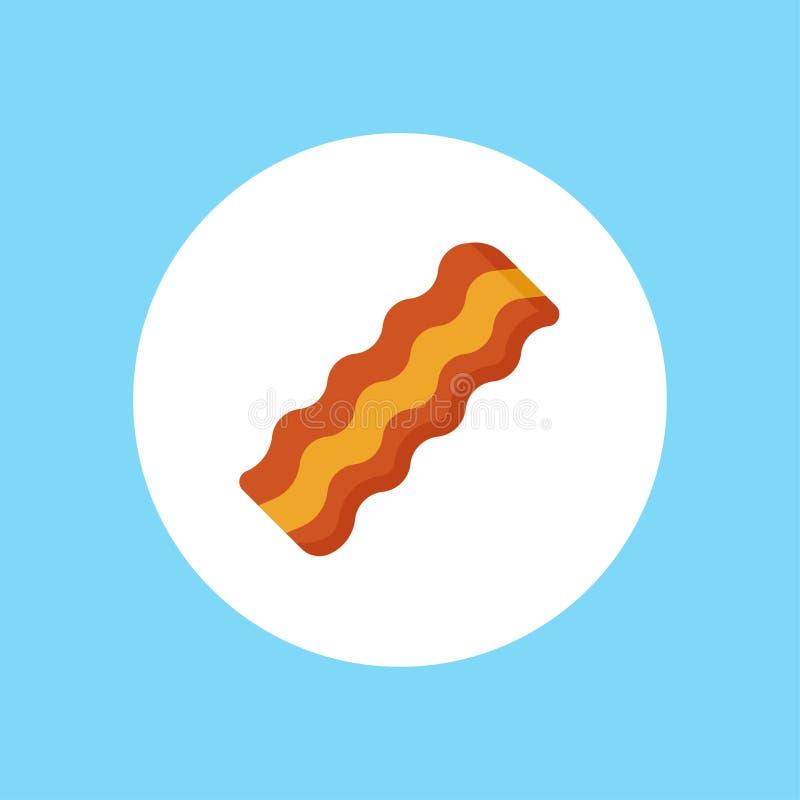 Simbolo del segno dell'icona di vettore del bacon royalty illustrazione gratis