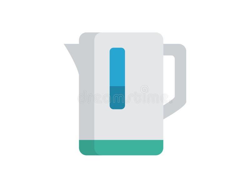 Simbolo del segno dell'icona di vettore del bollitore illustrazione di stock