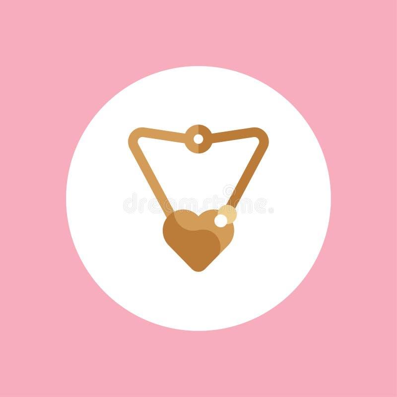Simbolo del segno dell'icona di vettore della collana illustrazione vettoriale