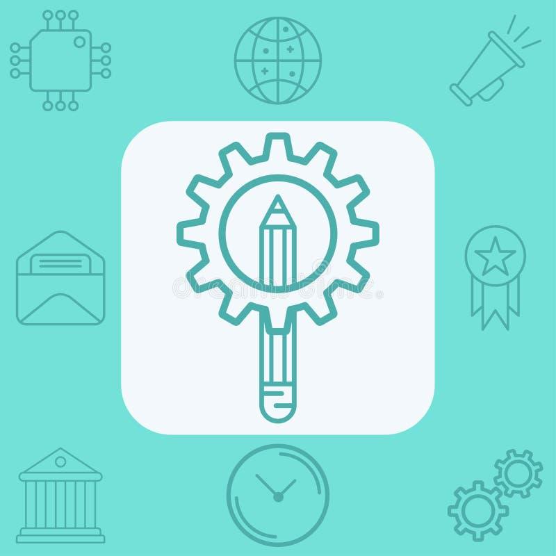 Simbolo del segno dell'icona di vettore della matita royalty illustrazione gratis