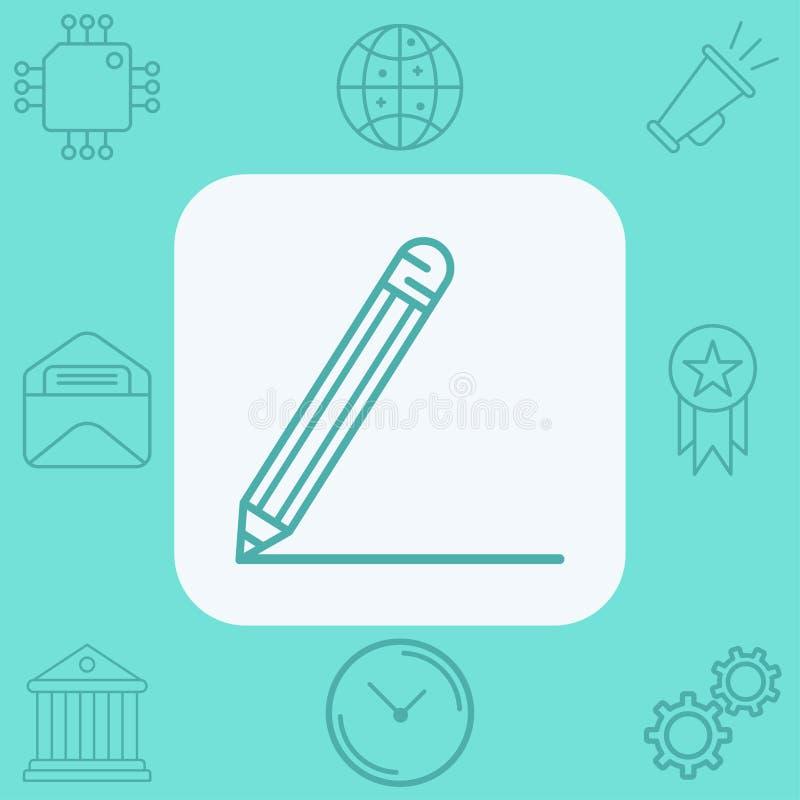 Simbolo del segno dell'icona di vettore della matita illustrazione vettoriale