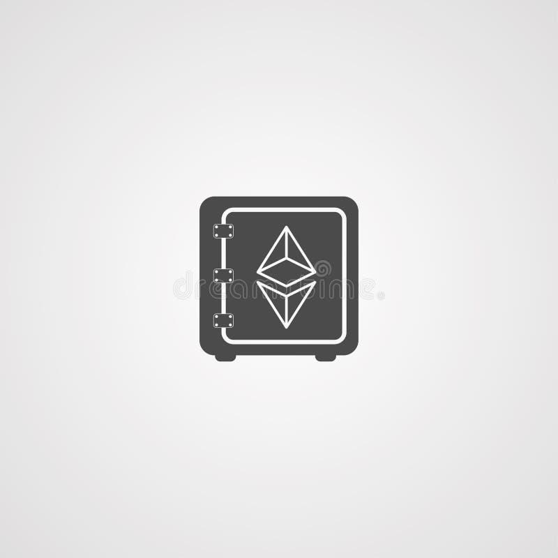 Simbolo del segno dell'icona di vettore di Ethereum royalty illustrazione gratis