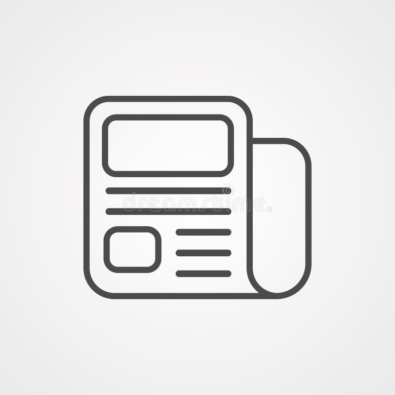 Simbolo del segno dell'icona di vettore del giornale royalty illustrazione gratis