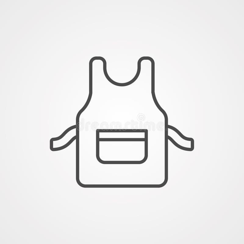 Simbolo del segno dell'icona di vettore del grembiule royalty illustrazione gratis