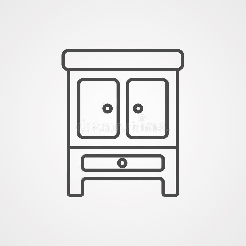 Simbolo del segno dell'icona di vettore del guardaroba royalty illustrazione gratis