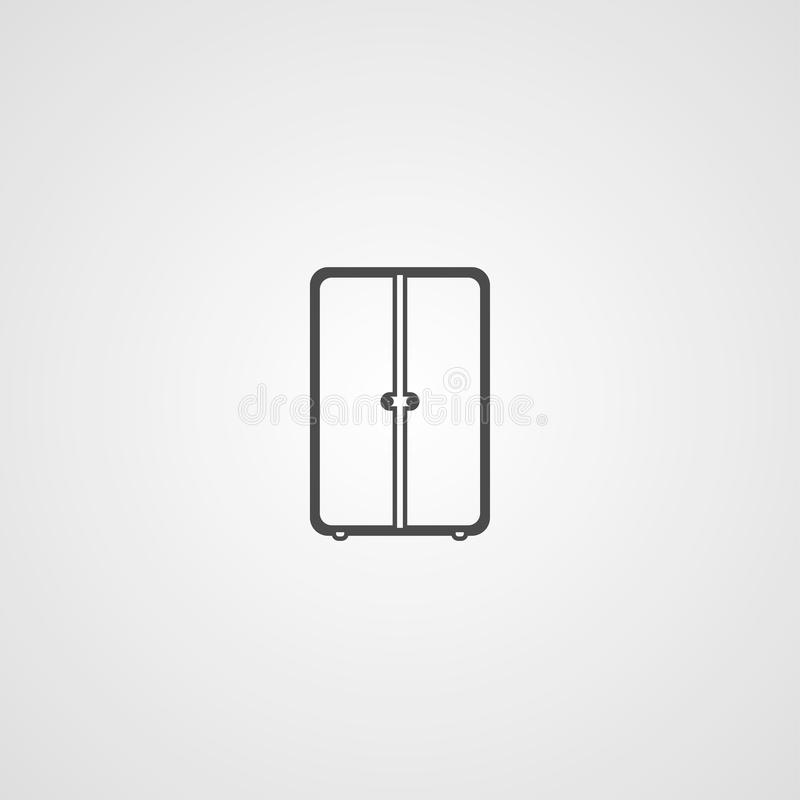 Simbolo del segno dell'icona di vettore del guardaroba illustrazione vettoriale