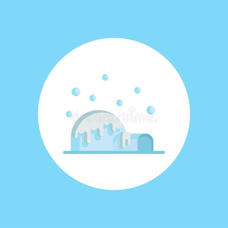 Simbolo del segno dell'icona di vettore dell'iglù illustrazione di stock