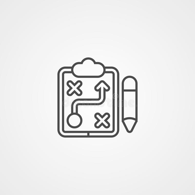 Simbolo del segno dell'icona di vettore di strategia illustrazione vettoriale