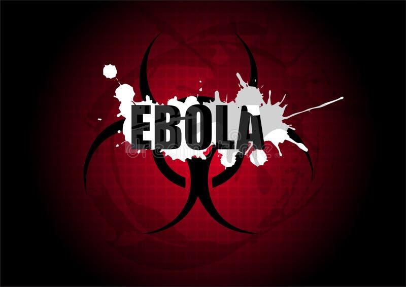 Simbolo del segno di cautela di rischio biologico del virus di Ebola illustrazione vettoriale