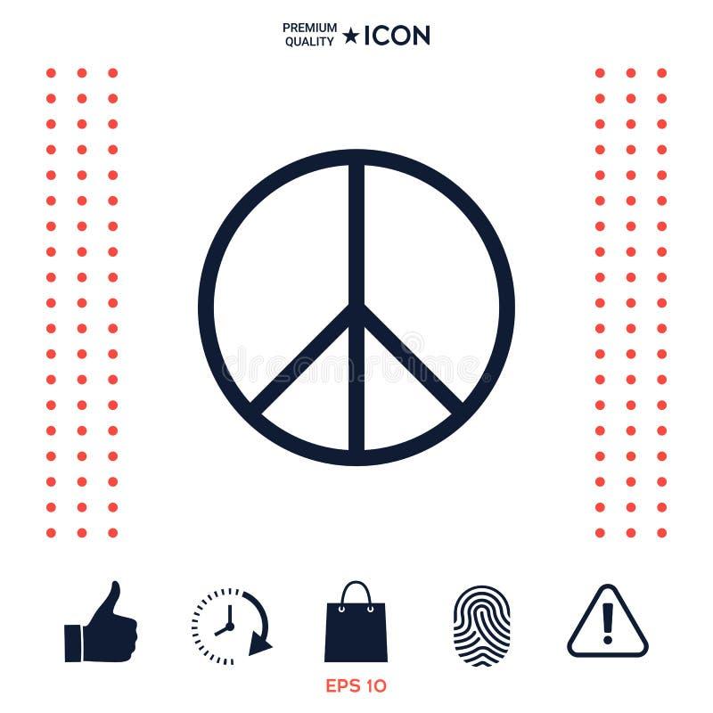 Download Simbolo del segno di pace illustrazione vettoriale. Illustrazione di hippie - 117976212