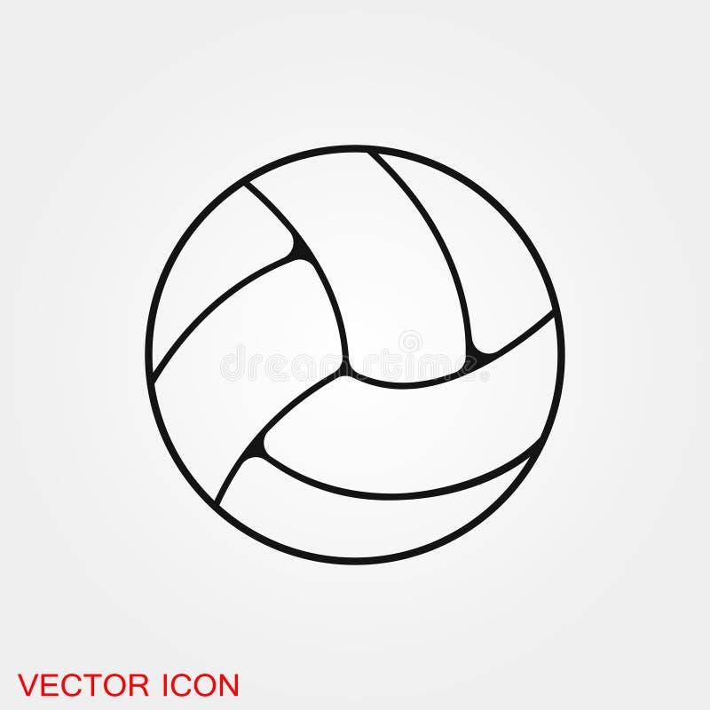 Simbolo del segno di vettore dell'icona di pallavolo per progettazione illustrazione di stock