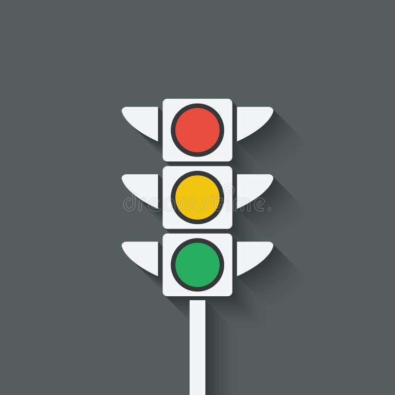 Simbolo del semaforo illustrazione vettoriale