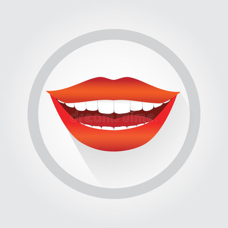 Simbolo del sorriso della donna illustrazione di stock