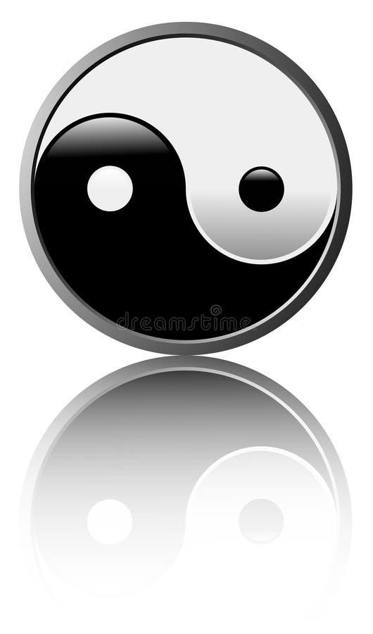Simbolo del Tao - priorità bassa bianca illustrazione di stock