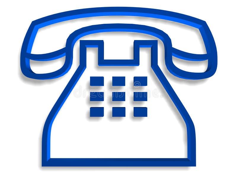 Simbolo del telefono immagine stock