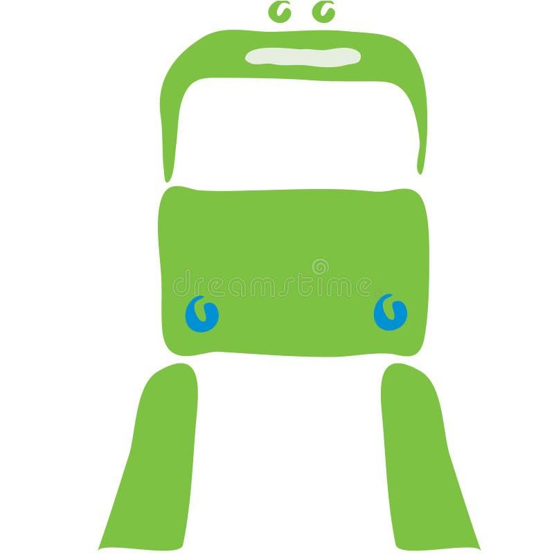 Simbolo del treno illustrazione di stock