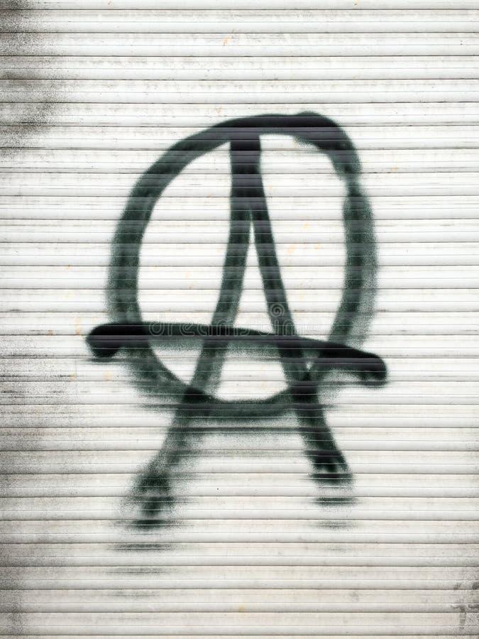 Simbolo dell'anarchico immagini stock libere da diritti
