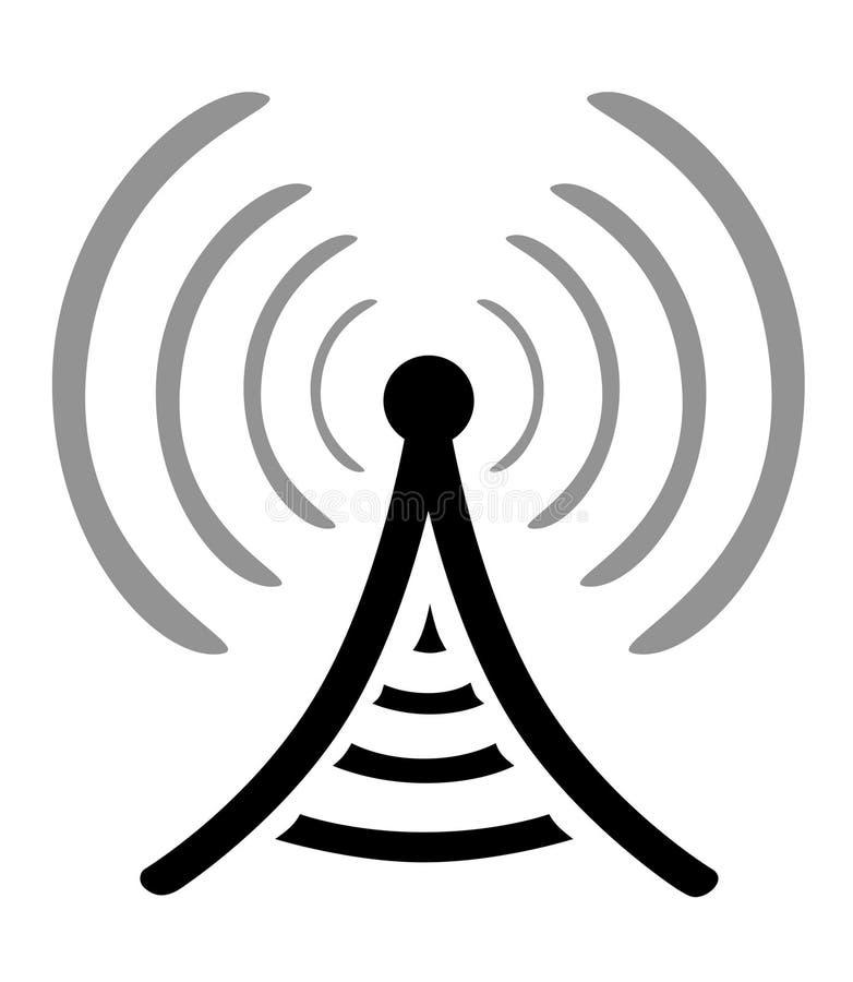 Simbolo dell'antenna radiofonica illustrazione di stock