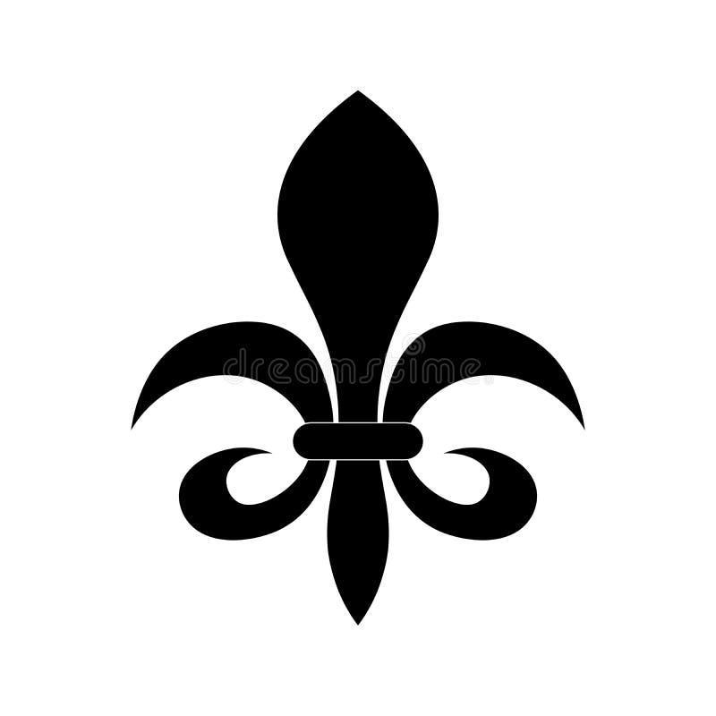 Simbolo dell'araldica di giglio araldico illustrazione vettoriale