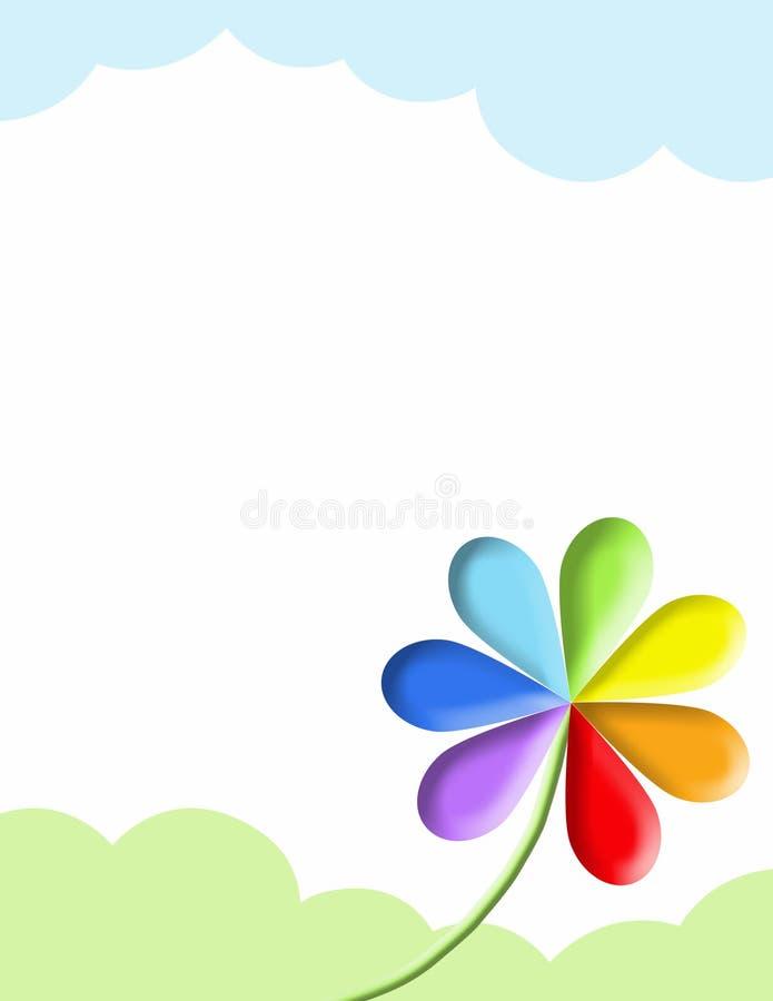 Simbolo dell'arcobaleno isolato su bianco illustrazione di stock