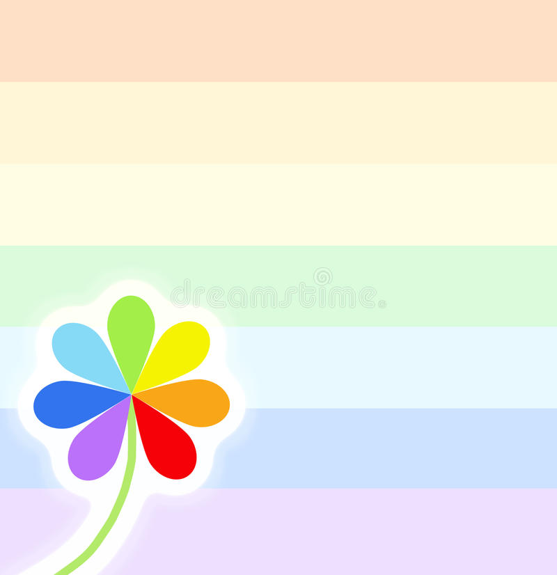 Simbolo dell'arcobaleno su bianco royalty illustrazione gratis