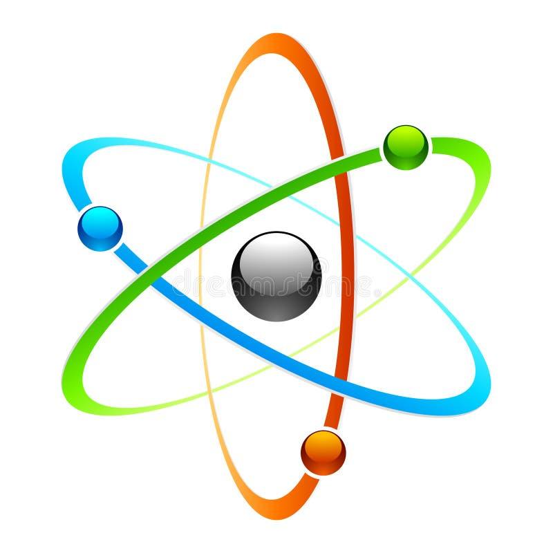 Simbolo dell'atomo illustrazione di stock