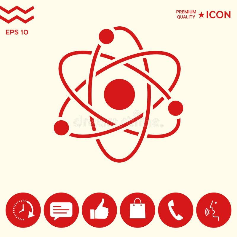 Download Simbolo Dell'atomo - Icona Di Scienza Illustrazione Vettoriale - Illustrazione di vecchio, stile: 117982149
