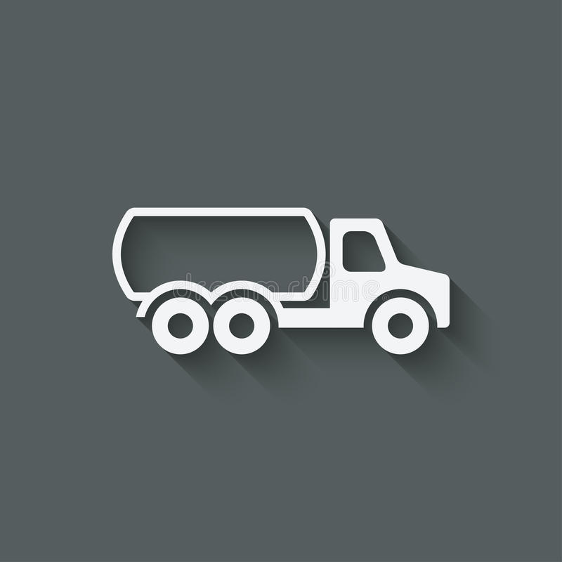 Simbolo dell'autocisterna illustrazione di stock