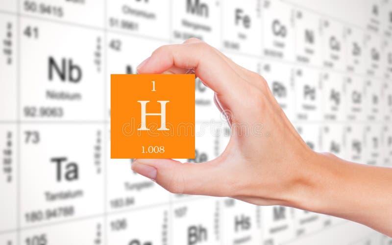 Simbolo dell'elemento dell'idrogeno fotografie stock
