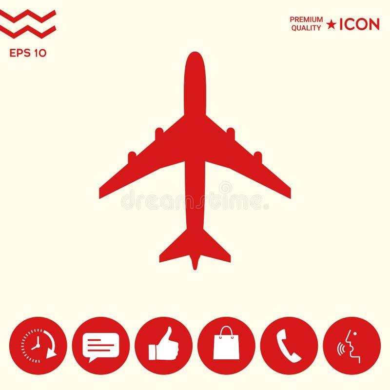 Download Simbolo Dell'icona Dell'aeroplano Illustrazione Vettoriale - Illustrazione di siluetta, mosca: 117982087