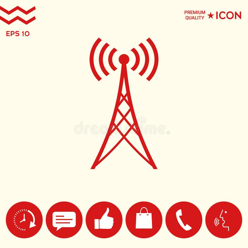 Download Simbolo Dell'icona Dell'antenna Illustrazione Vettoriale - Illustrazione di comunichi, information: 117982106
