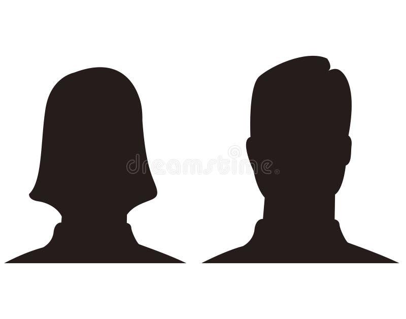 Simbolo dell'icona dell'avatar della donna e dell'uomo royalty illustrazione gratis