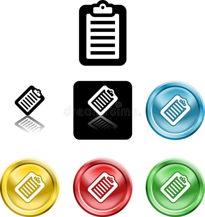 Simbolo dell'icona dei appunti royalty illustrazione gratis