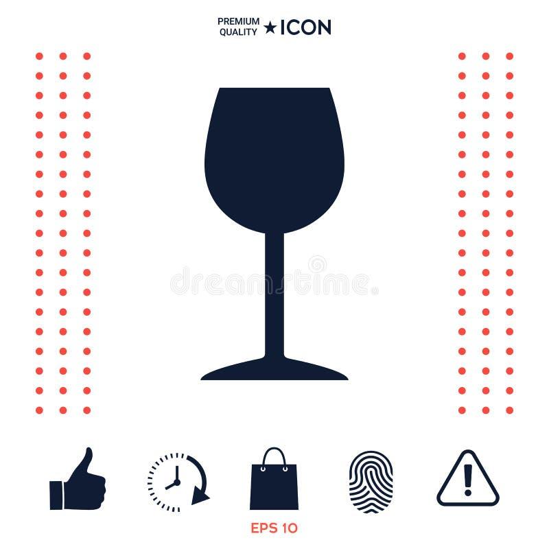 Download Simbolo Dell'icona Del Bicchiere Di Vino Illustrazione Vettoriale - Illustrazione di isolato, alcool: 117977597