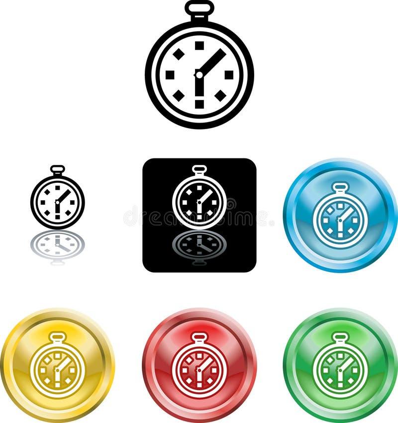 Simbolo dell'icona del cronometro illustrazione vettoriale