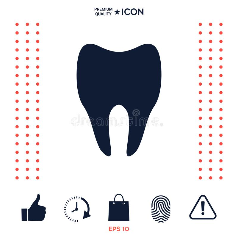 Download Simbolo Dell'icona Del Dente Illustrazione Vettoriale - Illustrazione di umano, grafico: 117977430