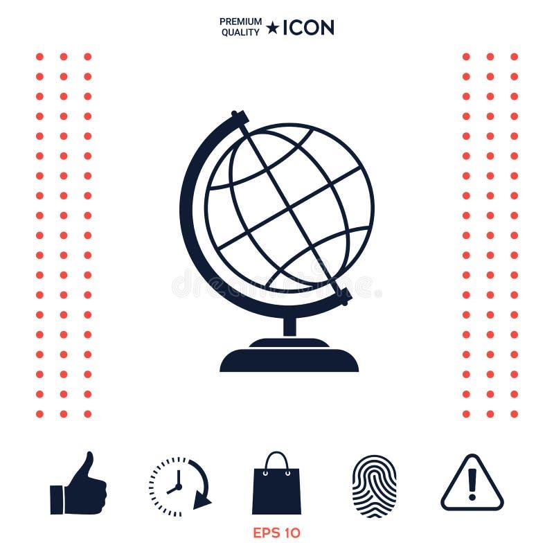 Download Simbolo Dell'icona Del Globo Illustrazione Vettoriale - Illustrazione di geografia, internazionale: 117975146