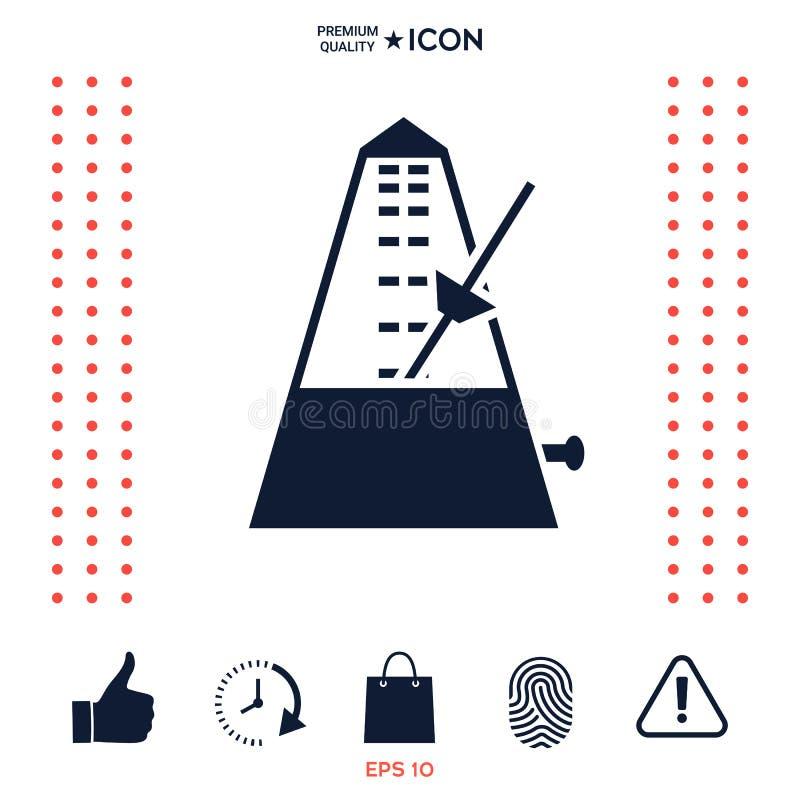 Download Simbolo Dell'icona Del Metronomo Illustrazione Vettoriale - Illustrazione di pendolo, piano: 117975962