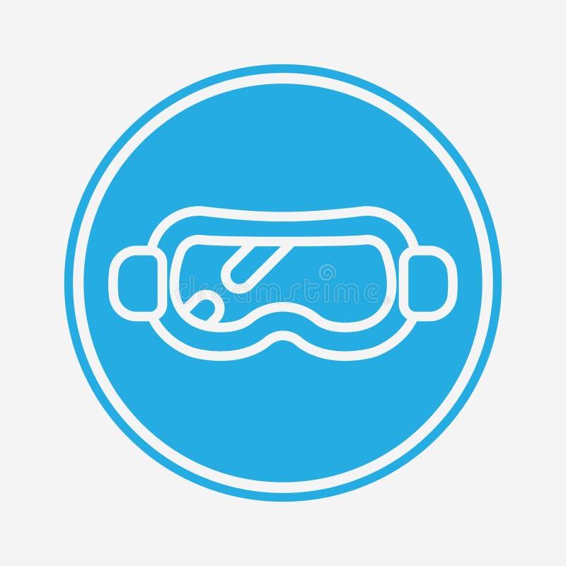Simbolo dell'icona del vettore della neve illustrazione vettoriale