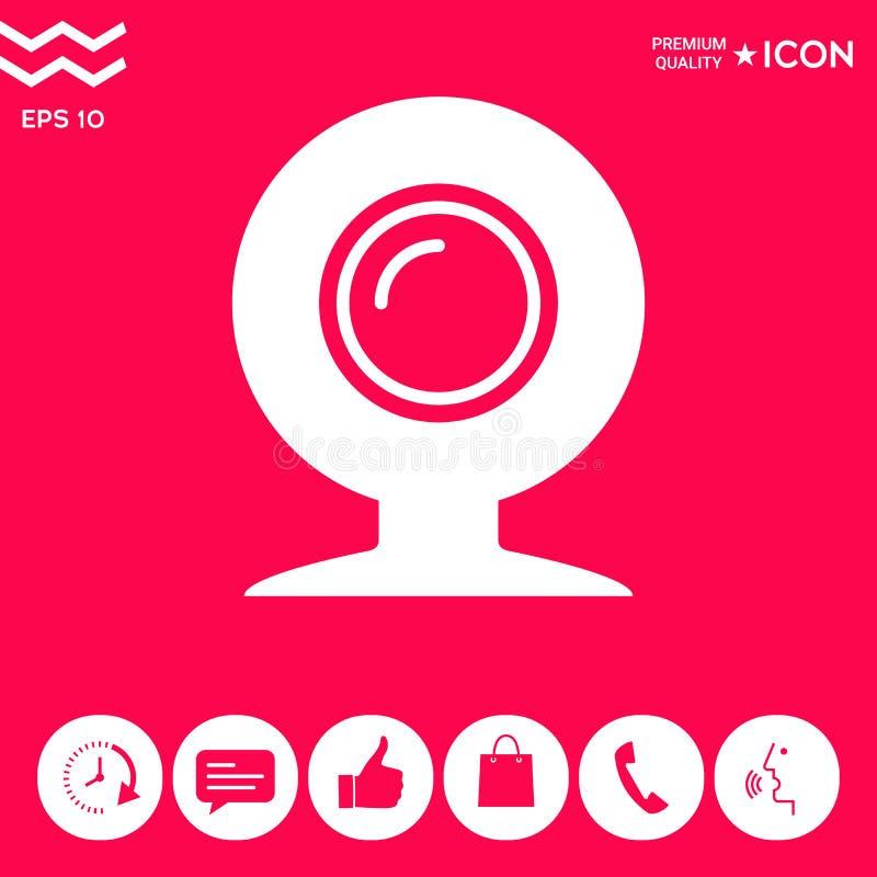Simbolo dell'icona del webcam illustrazione di stock
