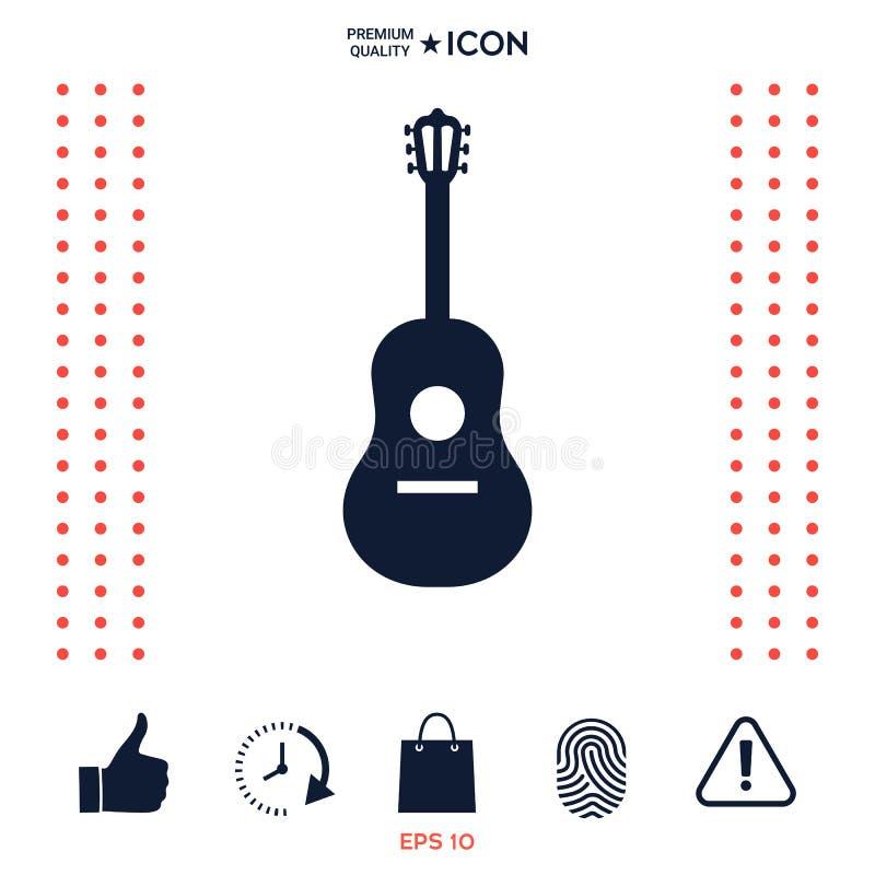 Download Simbolo Dell'icona Della Chitarra Illustrazione Vettoriale - Illustrazione di festival, elemento: 117975189