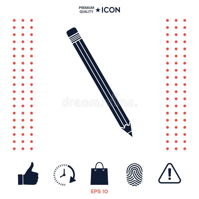 Download Simbolo Dell'icona Della Matita Illustrazione Vettoriale - Illustrazione di carta, disegno: 117976267