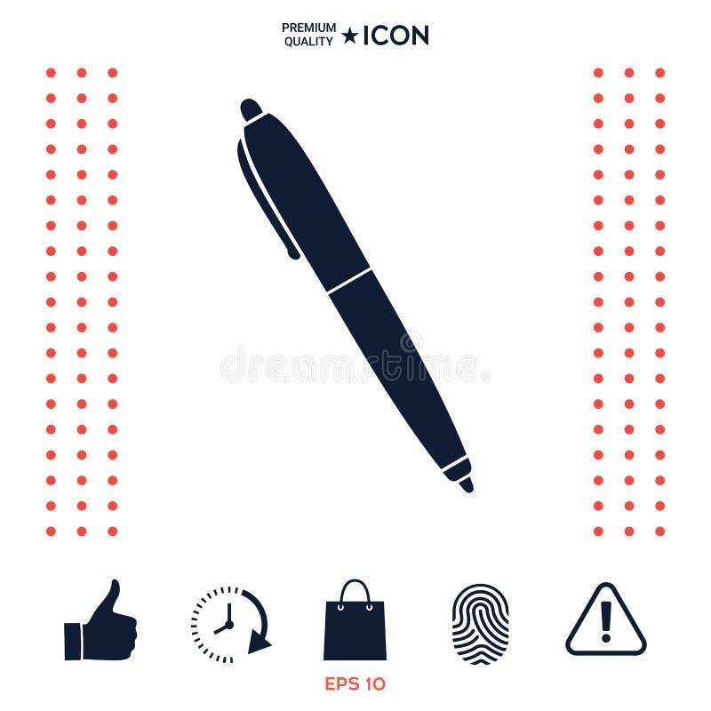 Download Simbolo Dell'icona Della Penna Illustrazione Vettoriale - Illustrazione di vecchio, icona: 117976246