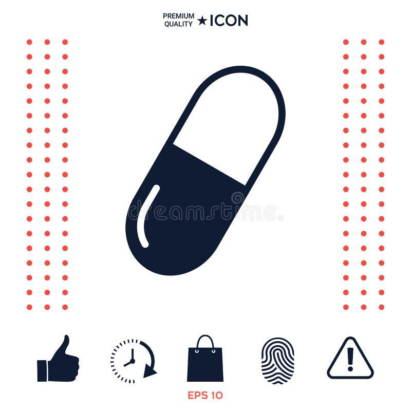 Download Simbolo Dell'icona Della Pillola Illustrazione Vettoriale - Illustrazione di heartache, droga: 117976345